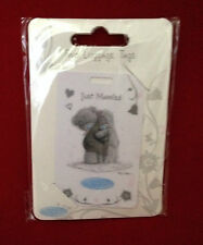 ME TO YOU BEAR / TATTY TEDDY WEDDING HONEYMOON SILVER JUST MARRIED LUGGAGE TAGS