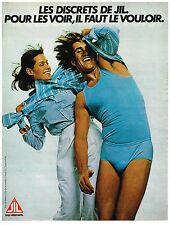 PUBLICITE ADVERTISING  054  1977  LES DISCRETS sous vetements slips JIL 2