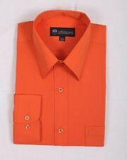 Men's Basic Solid Traditional Dress Shirt DS02 Classic Poly Cotton Blend