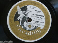 78rpm VIENNESE SYMPHONY ORCH il trovatore selection PICCADILLY 201