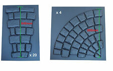 COBBLE CIRCLE PAVING MOULD 2.5M - INTERLOCKING ROTUNDA DESIGN - 24 MOULD SET