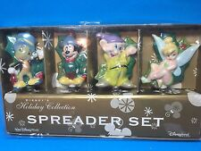 Disney Tinkerbell Dopey Mickey Mouse Christmas Holiday Cheese Spreader Knife Set