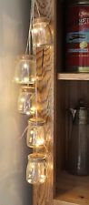 LED INDOOR GLASS JAM JAR LIGHTS STRING FAIRY LIGHTS WEDDING XMAS HOME DECOR