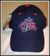 VINTAGE COLUMBUS BLUE JACKETS EMBROIDERED ADJUSTABLE SNAP BACK CAP BY PUMA