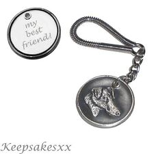 KEYRING Smooth Fox Terrier - Dog Tag Disc  key Chain with PERSONALISED ENGRAVING