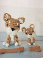CROCHET PATTERN - French Bulldog & Japanese Shiba Miniature Dogs