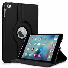 360° BLACK Rotating  iPad MIN 4   Leather Cover Case + Screen  Protector