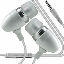 White Premium Earphone Handsfree With Mic For Apple Iphone 4S
