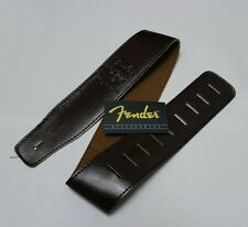 Fender Leather Guitar Strap and 12 FREE PICKS and Pick Holder