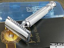 Pearl L-55 Closed Comb Double Edge Safety Razor in Case