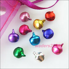 100 New Charms Aluminum Mixed Christmas Bell Pendants 6mm