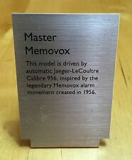 JAEGER-LECOULTRE Display Watch Metal Plaque Window MASTER MEMOVOX Le Coultre OEM