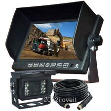 "7"" REAR VIEW BACKUP CAMERA CAB OBSERVATION SYSTEM FOR EXCAVATOR TRACTOR FORKLIFT"