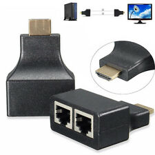 1 Pair HD 3D HDMI Over RJ45 CAT5e CAT6 UTP LAN Ethernet Balun Repeater Extender