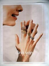 PUBLICITE-ADVERTISING :  DINH VAN  2014 Bijoux,Bagues