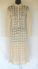 VINTAGE 1960s 70s LILLIE RUBIN CROCHETED DRESS CREAM COLOR COTTON OR POLY COTTON