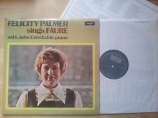 Felicity Palmer Sings Faure with John Constable on Piano LP