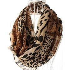 Women's Fashion Long Soft Wrap Lady Shawl Leopard Chiffon Scarf Warm New