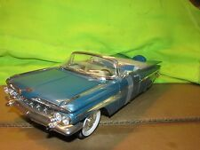59 CHEVY IMPALA 1959 CHEVROLET ROAD SIGNATURE 1/18  BLUE display piece no box