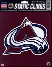 """COLORADO AVALANCHE Logo STATIC CLING Window NHL Decal 6"""" Show Your Team Support"""