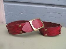 LINEA PELLE GROMMET STUD LEATHER WAIST BELT HIPPIE BOHO ANTHROPOLOGIE SZ M