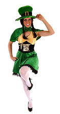 FANCY DRESS LADIES SEXY LEPRECHAUN FITS SIZE 10-14 HALLOWEEN PARTY FREE UK P+P