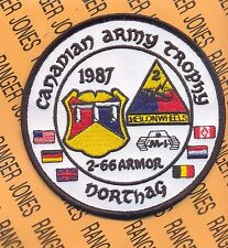US Army 2nd Bn 66th Armor 2nd AD CAT 1987 Canadian Army Trophy tank patch