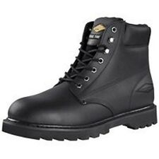 "NEW DIAMONDBACK ACTION LEATHER 6"" STEEL TOE BLACK 7.5 M WORK CASUAL BOOT 6434666"
