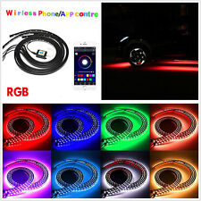 4 X Waterproof Multi-Color LED Autos Chassis Lights Strip Tube Lamps APP Control