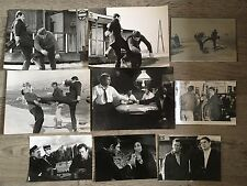 LES GRANDS CHEMINS - R. VADIM - Robert HOSSEIN - LOT 8 PHOTOS CINEMA PRESSE
