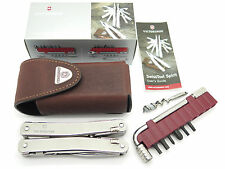 VICTORINOX 53802 SWISSTOOL SPIRIT PLUS SAK SWISS ARMY KNIFE TOOL LEATHER SHEATH