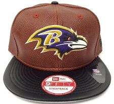 New Era Baltimore Ravens NFL 9Fifty 950 Football Skin Leather Strapback Cap Hat