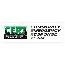 CERT Bumper Sticker Vinyl Car Decal Truck Community Emergency Response Team FEMA