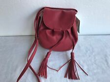 NWT Authentic LUCKY BRAND LB2785 JORDAN LEATHER MINI CROSSBODY BAG RUBY RED