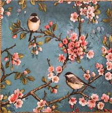 2 single paper Napkin Serviette Decoupage Collection Birds on tree Sakura Flower