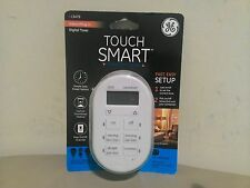 New GE Digital touch smart Timer w/ Indoor Plug In, Single Polarized