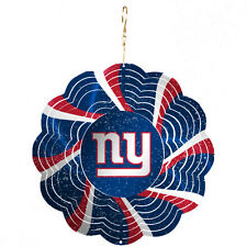 RARE SPRING ITEM !! NEW YORK NY GIANTS GEO METAL SPINNER CHRISTMAS TREE ORNAMENT