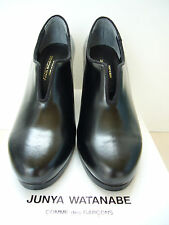 New RARE Junya Watanabe Comme des Garçons Cordovan Slit Front Black Shoes S UK 5