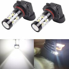 JDM ASTAR 2x 50W H10 9145 High Power LED CREE 6000K Super White Fog Lights Bulbs