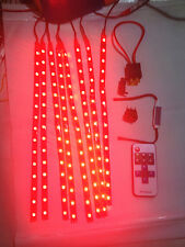 Wireless Red LED Boat Accent Lights Kit Waterproof Bright Strips Yacht Interior