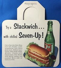 Original Vintage 1953 7Up SODA Stackwich Advertising Bottle Hanger