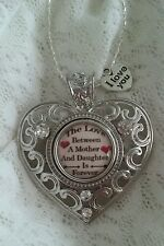 THE LOVE BETWEEN A MOTHER & DAUGHTER ~ FOREVER  - SNAP BUTTON  HEART NECKLACE