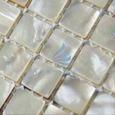 4 PCS Mother Of Pearl Mosaic Tiles River Bed Nature Pearl Shell Mosaic Square