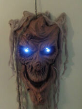 4FT Halloween Party/Prop Talking Tree Head/Ghost/White Eyes/Lights/Window/sound