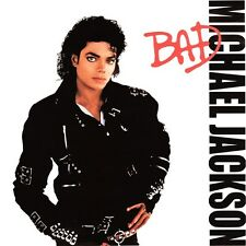 Michael Jackson Bad Album Cover Metal Sign