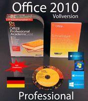 Microsoft Office Professional 2010 Vollversion Box EDU Zweitinstallation OVP NEU
