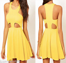 Sexy Womens Summer Club Party Cocktail Casual Cut out Flare Skater Dress SMALL