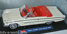 1451 Sun Star - 1963 FORD GALAXIE 500 convertible - white/red interior - 1:18