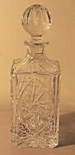 Poland 24% Lead Crystal Square Liquor Decanter With Stopper