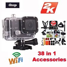 Gitup Git2 Pro Wireless WiFi 2K Helemet Sports Camera DV+38 Pcs Accessories Kit